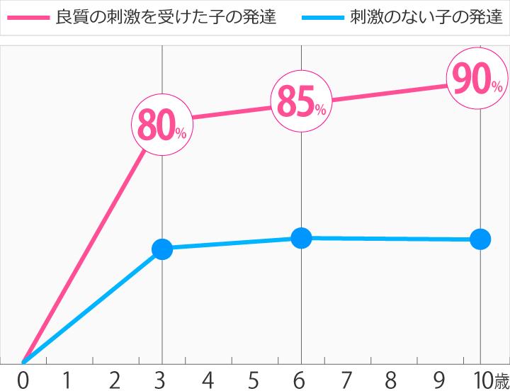 年齢による脳の発達グラフ